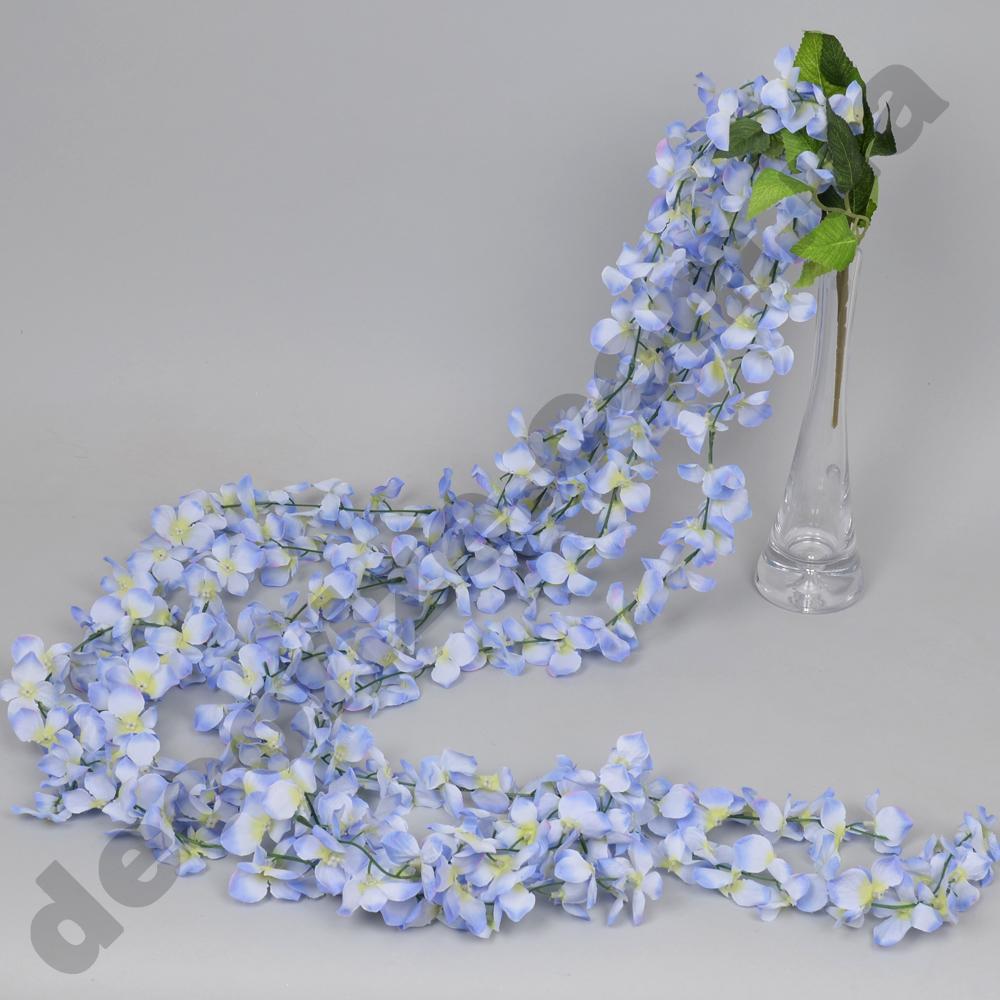 свисающая гортензия 170см голубая
