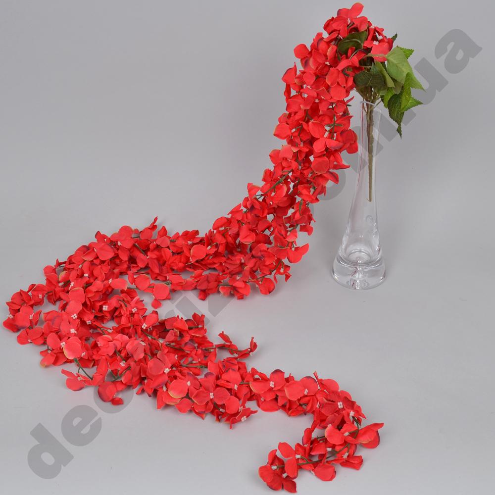 свисающая гортензия 170см красная