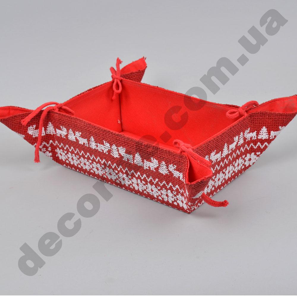 Піднос з тканини червоний