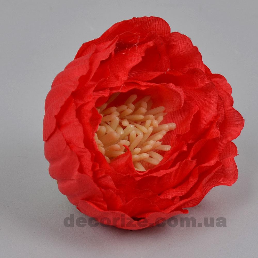 Головка пион с тычинками красный