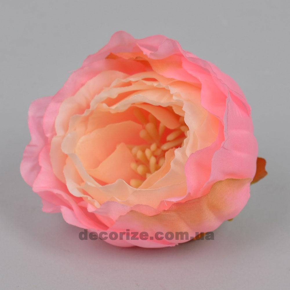 Головка пион с тычинками розово-персиковый