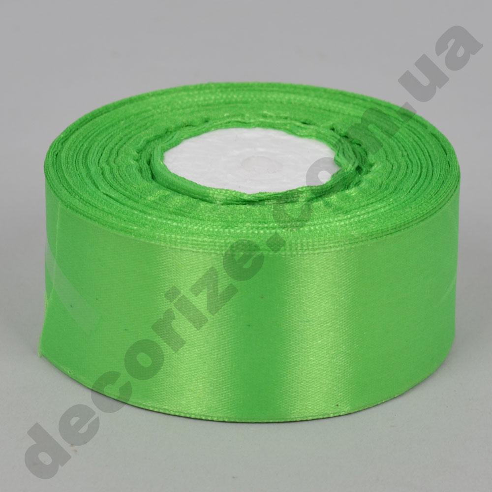 стрічка атласна 4см * 33 метра (колір зелений №52)