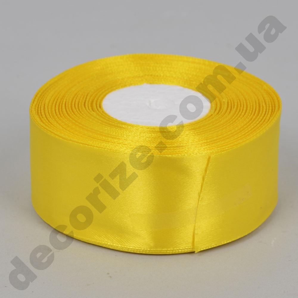 стрічка атласна 4см * 33 метри (колір жовтий №15)