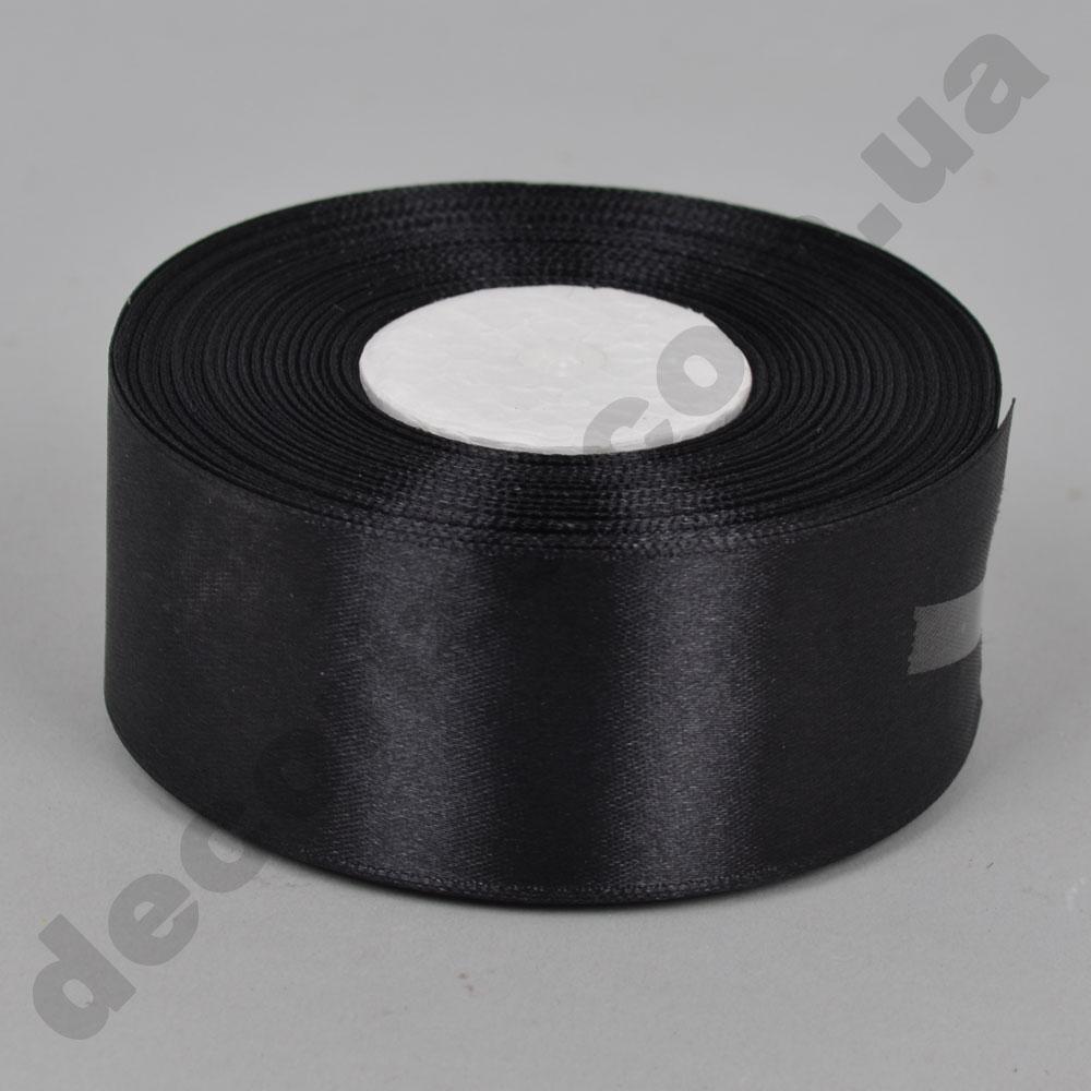 стрічка атласна 4см * 33 метра (колір чорний №39)