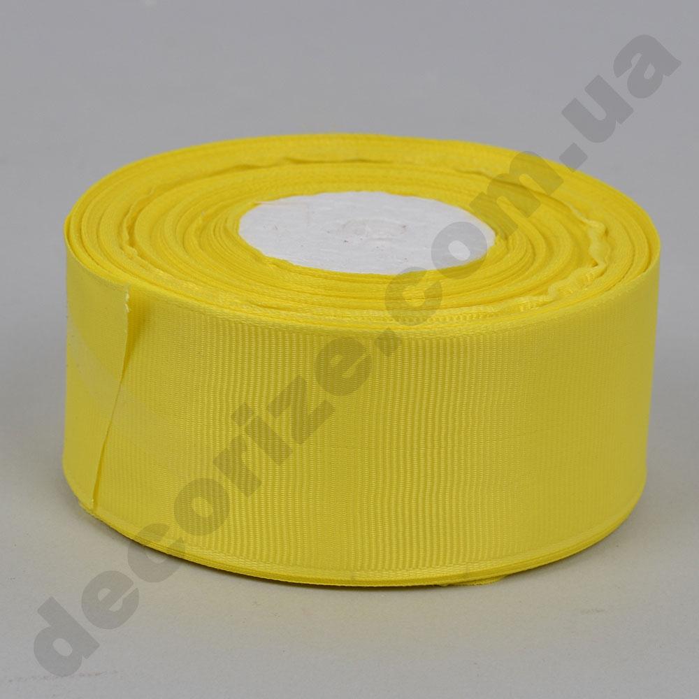стрічка репс 4 см * 23 метра (колір №15 -жовтий)