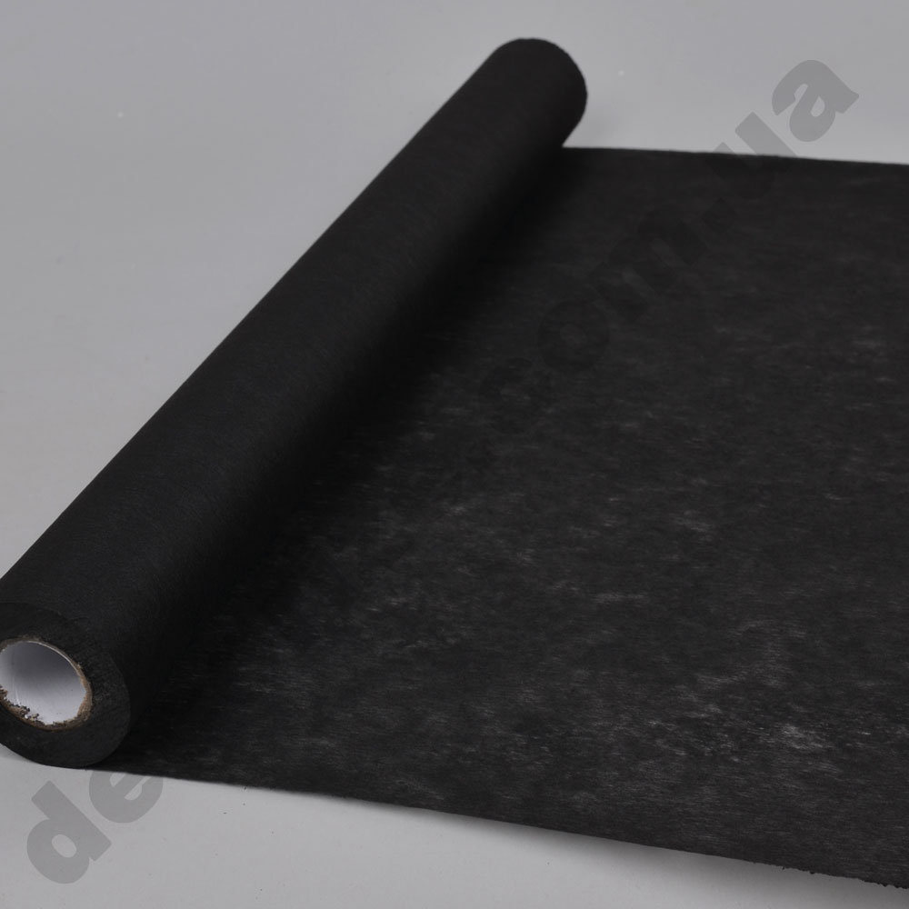 флизелин флористический (плотный) 50см*10 ярдов черный -060