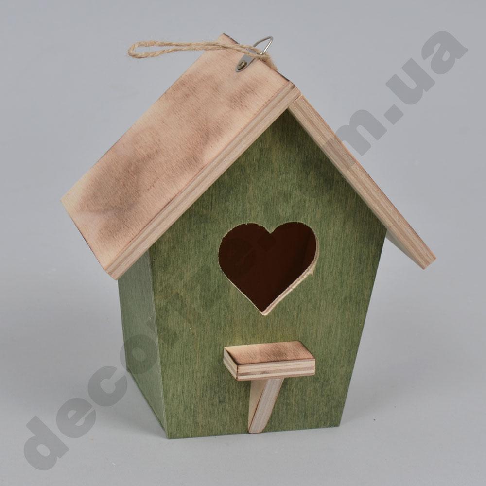 шпаківня декоративна дерев'яна (зелена)