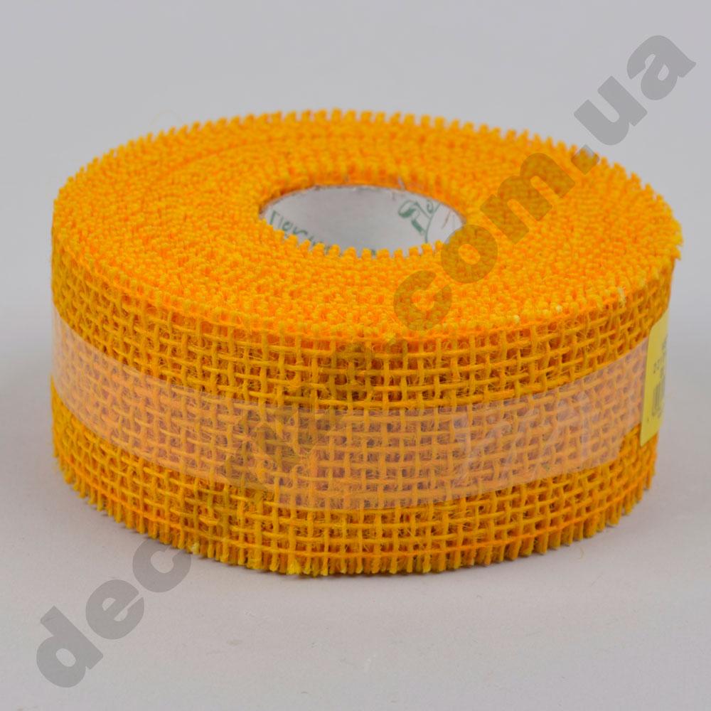 стрічка мішковина 5 см * 10 м. (221014) темно жовта