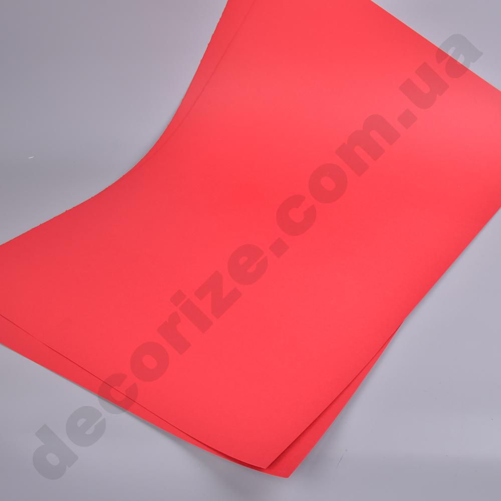 картон  красный (90см*60см) - 3 листа