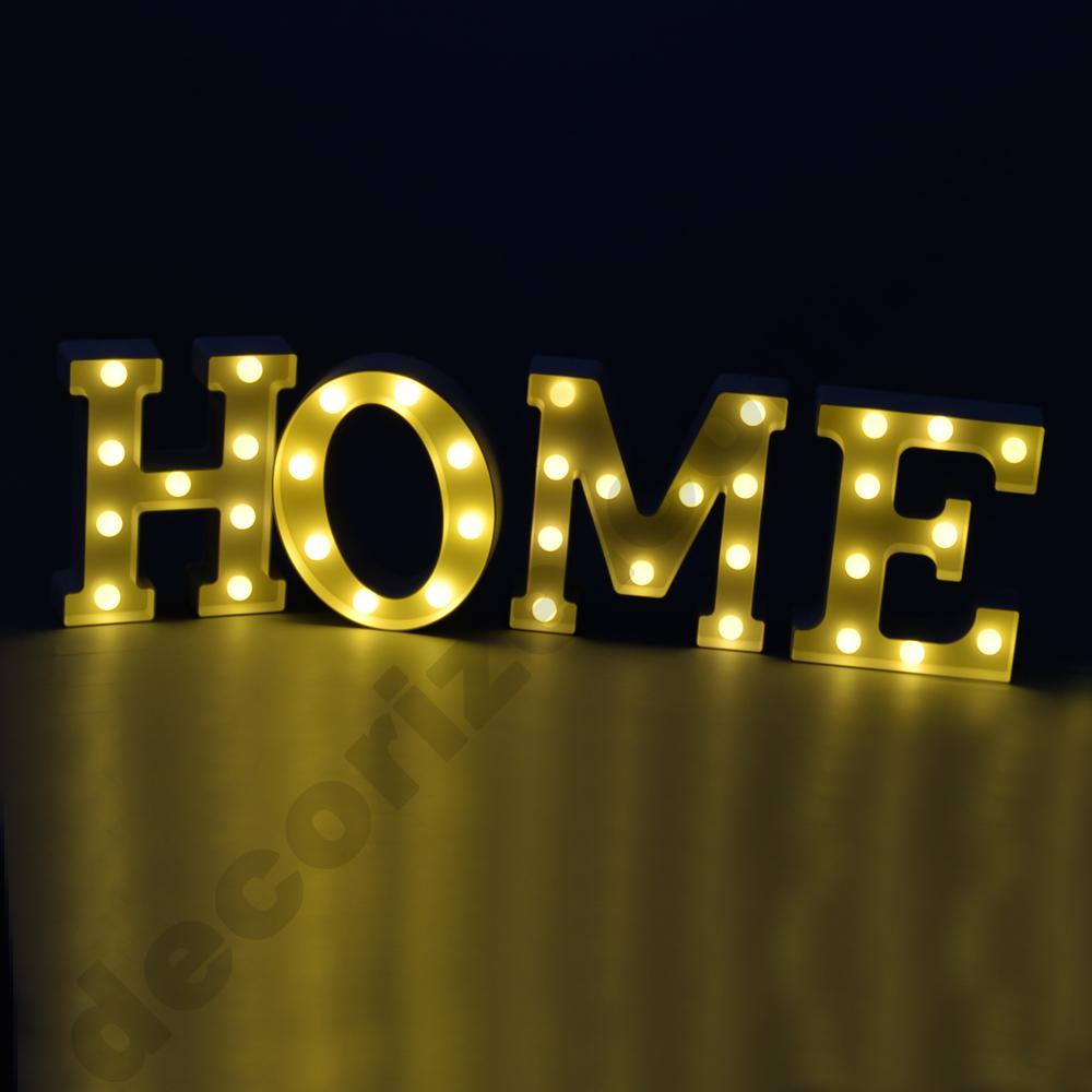 """Слово """"HOME"""" с подсветкой"""