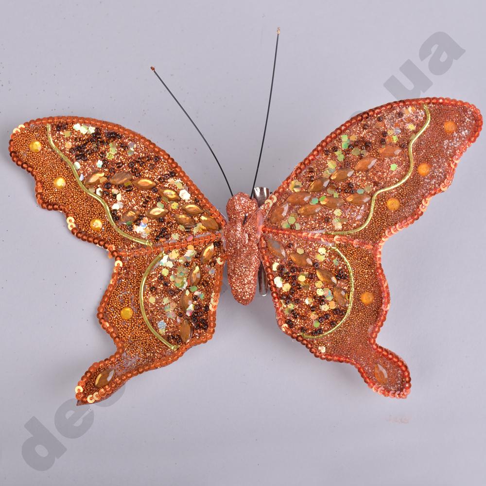 декор бабочка на прищепке