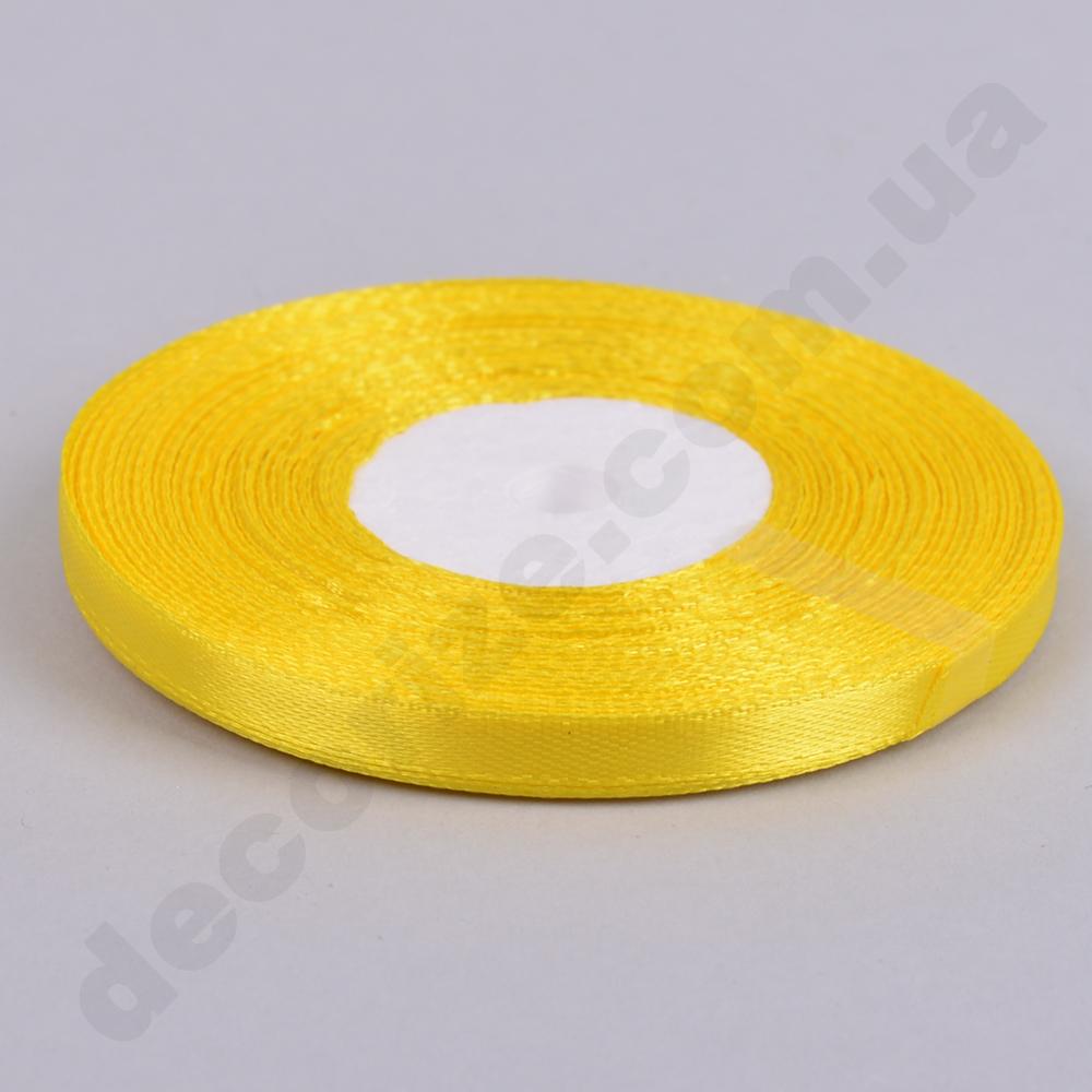 стрічка атласна 0.65см * 35 (колір №15-жовтий)