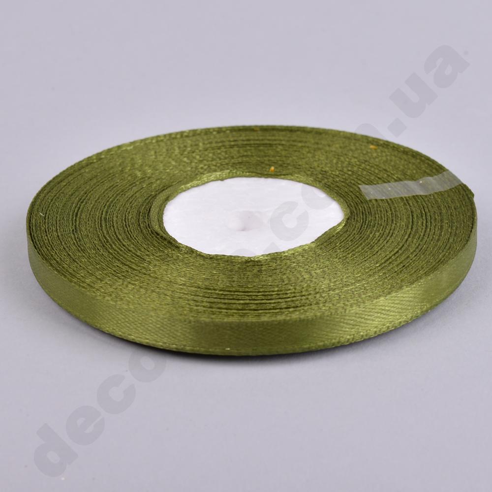стрічка атласна 0.65см * 35 (колір №108 -оливковий)