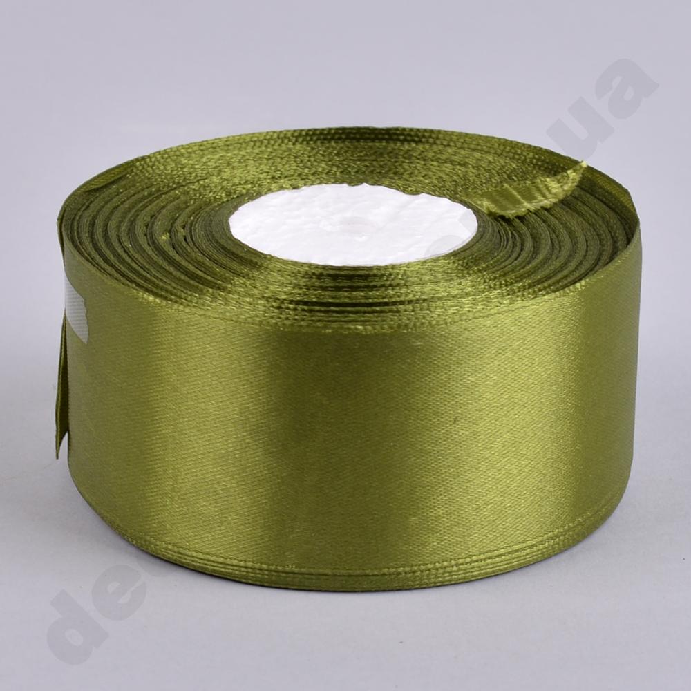 стрічка атласна 4см * 33 метра (колір №108 -оливковий)