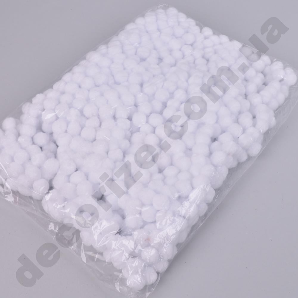 помпони декоративні тканинні (1000шт) білі
