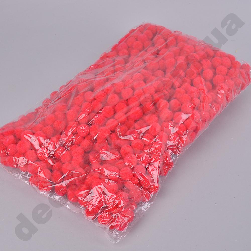 помпони декоративні маленькі 1,5 см (червоні)
