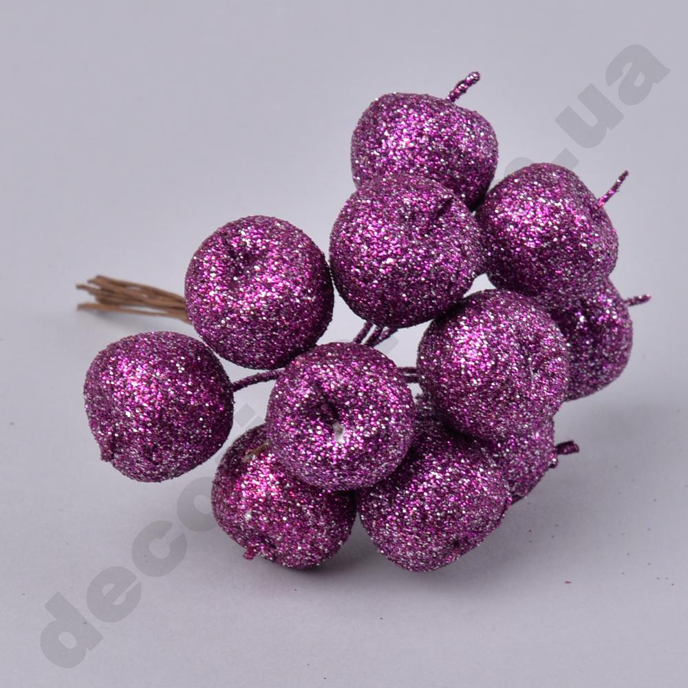 Пучок яблоки фиолетовые в блестках (11-12 шт)