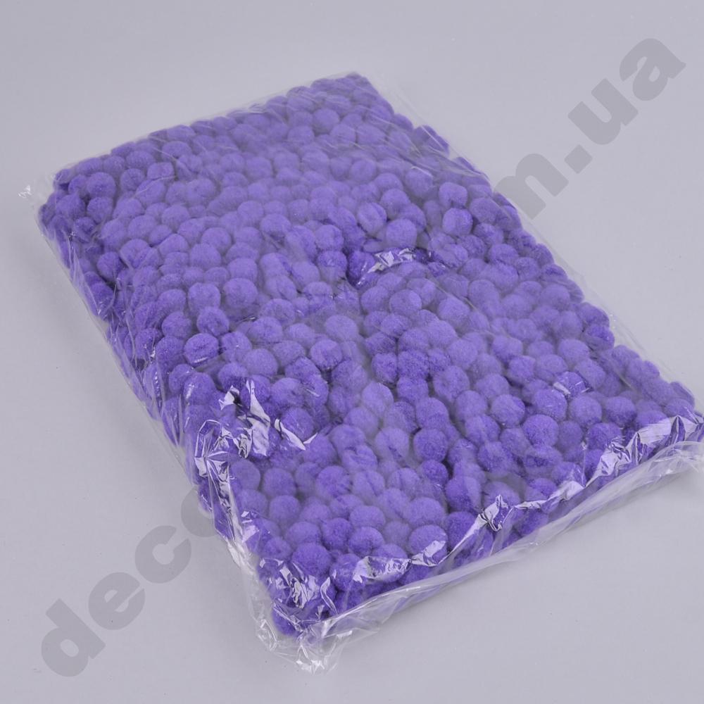 помпони декоративні маленькі 1,5 см (фіолетові)