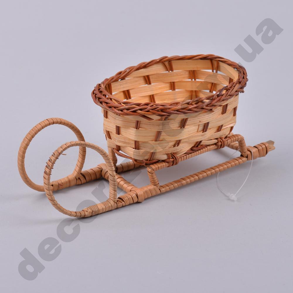 Сани плетені з лози