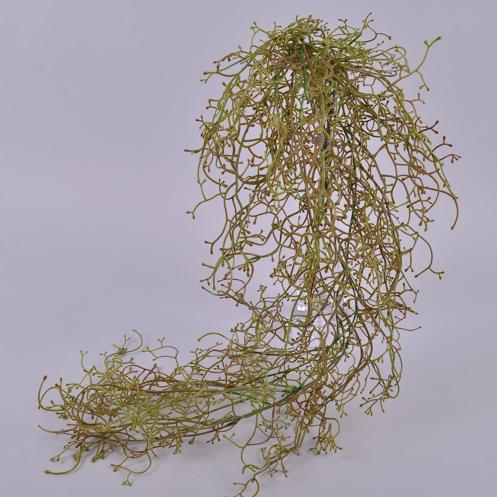 травичка звисаюча  штучна покручена темно зелена
