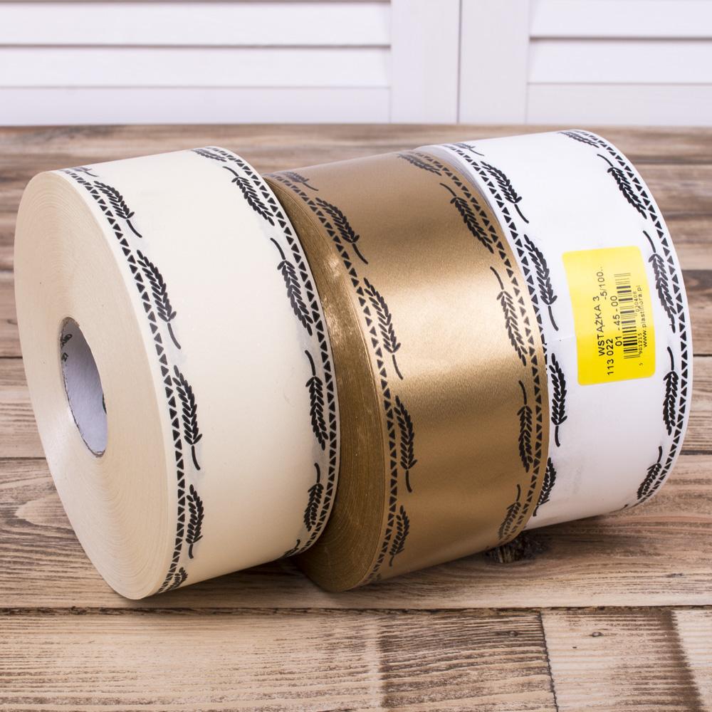 лента печатная траурная 5см*100м