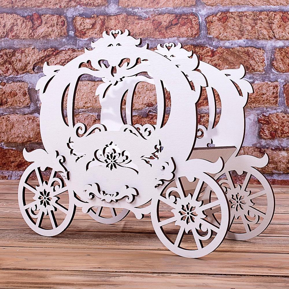 деревянная карета декор