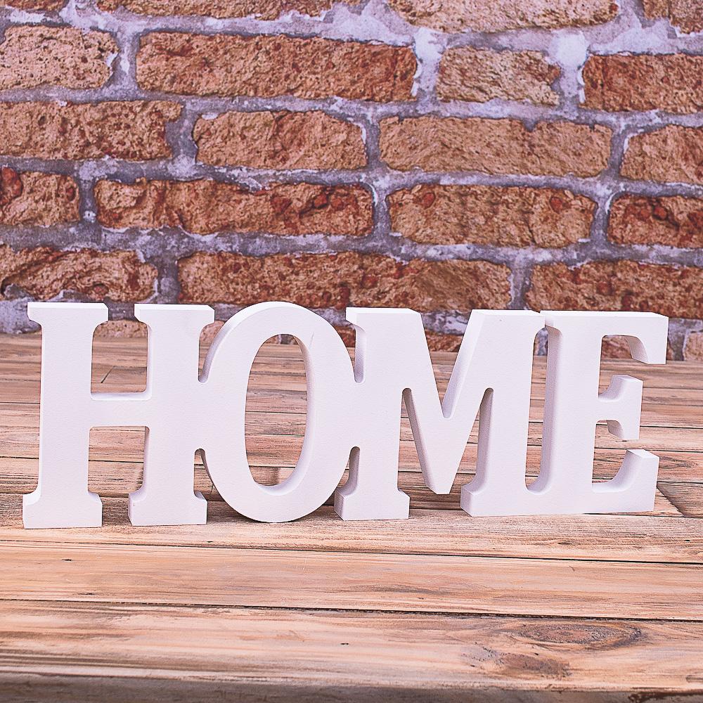 """деревянное слово """"home"""""""