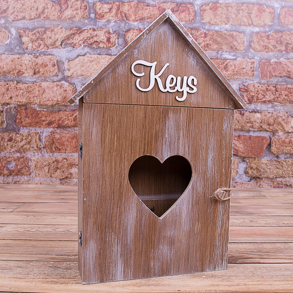 """ключниця коричнева """"keys"""""""