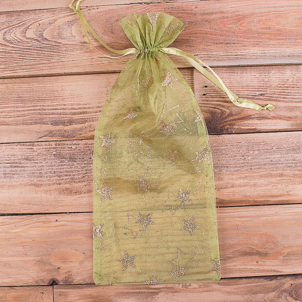 мешочек с органзы для конфет салатовый