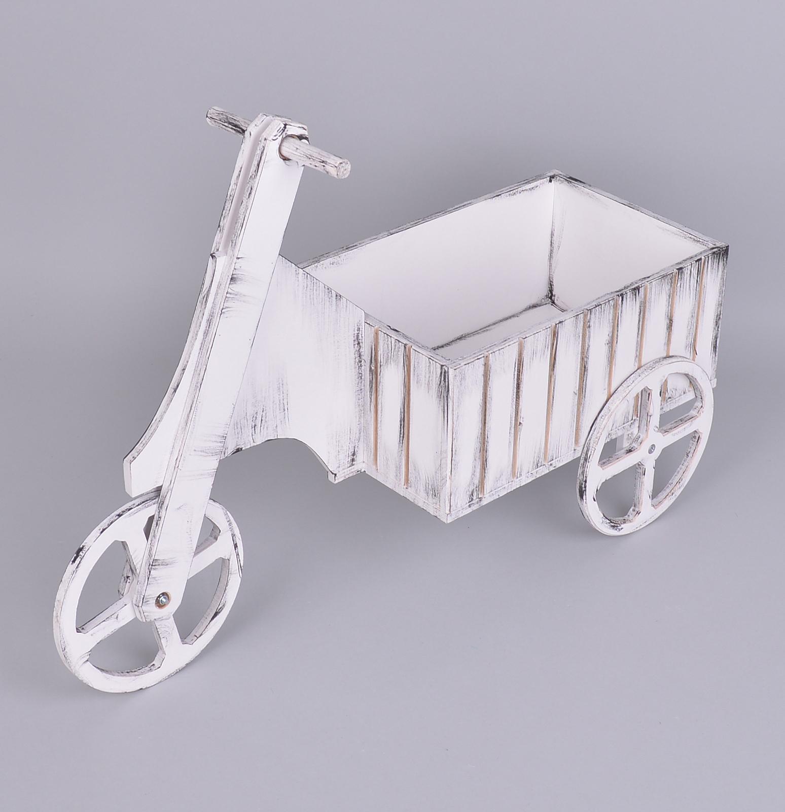 велосипед- цветник большой белый