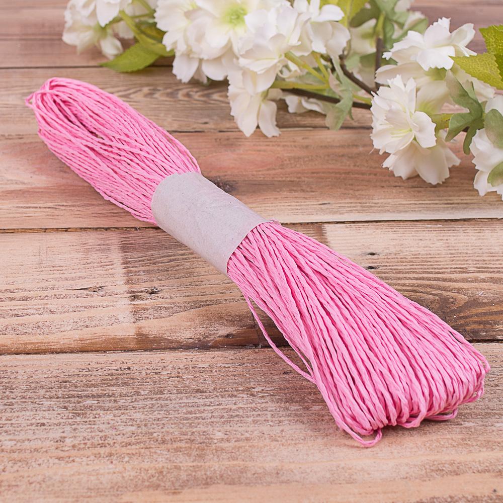 шнурок для декора ярко розовый