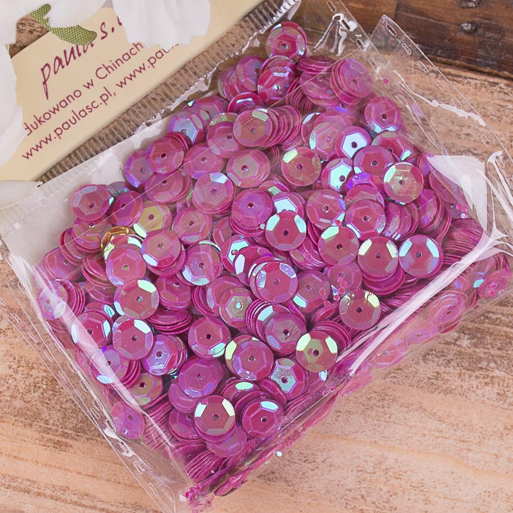 пайетки круглые фиолетовые