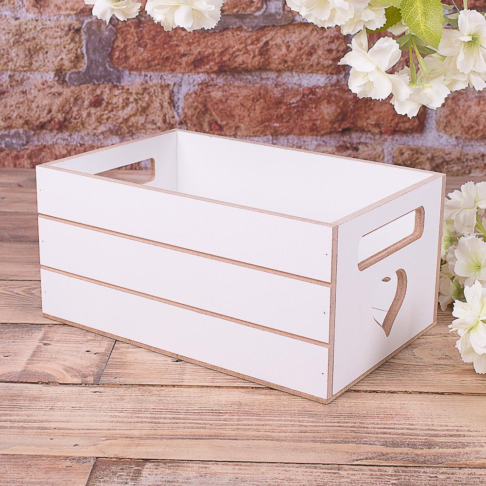 Ящик под цветы деревянный белый