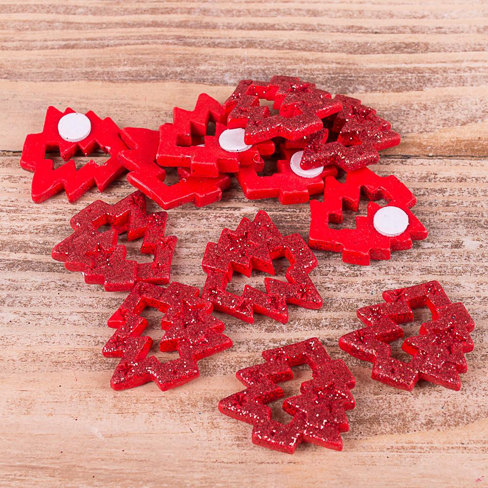 наклейки елки из керамики красные