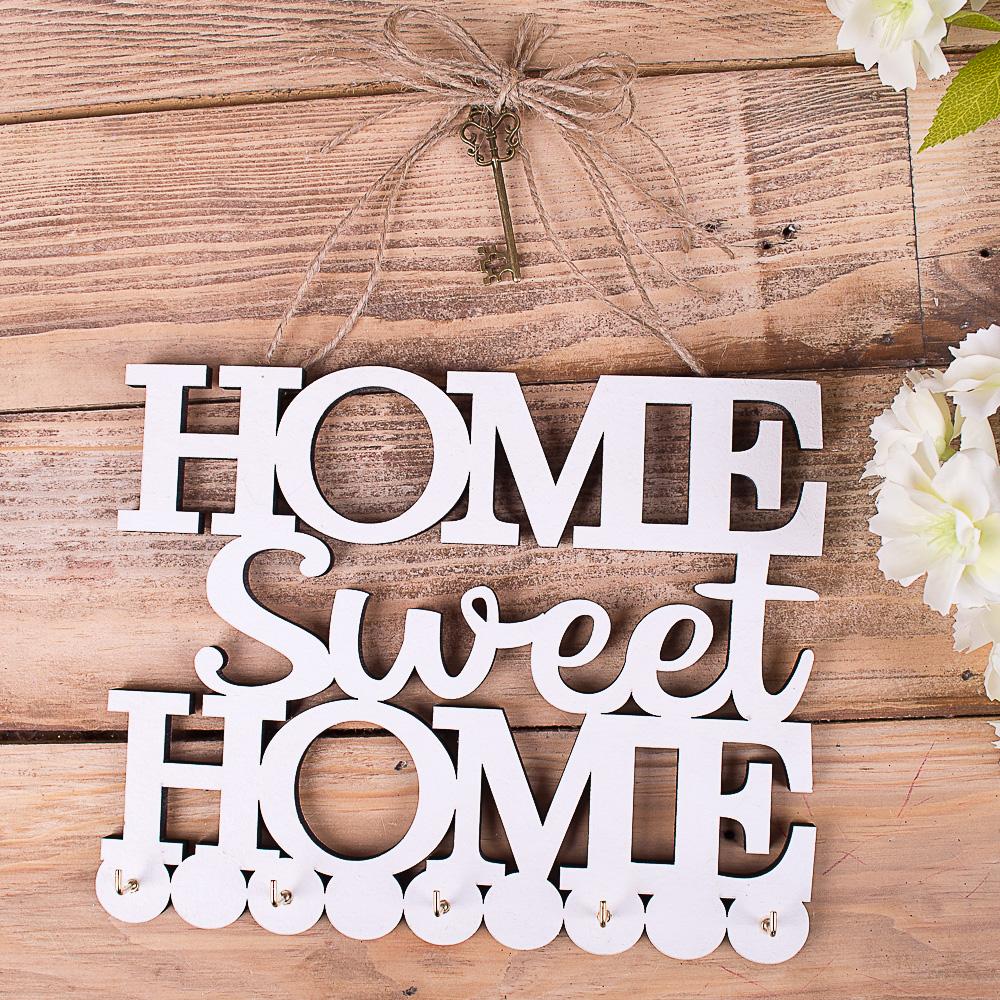 ключница подвесная с ключиком home sweet home