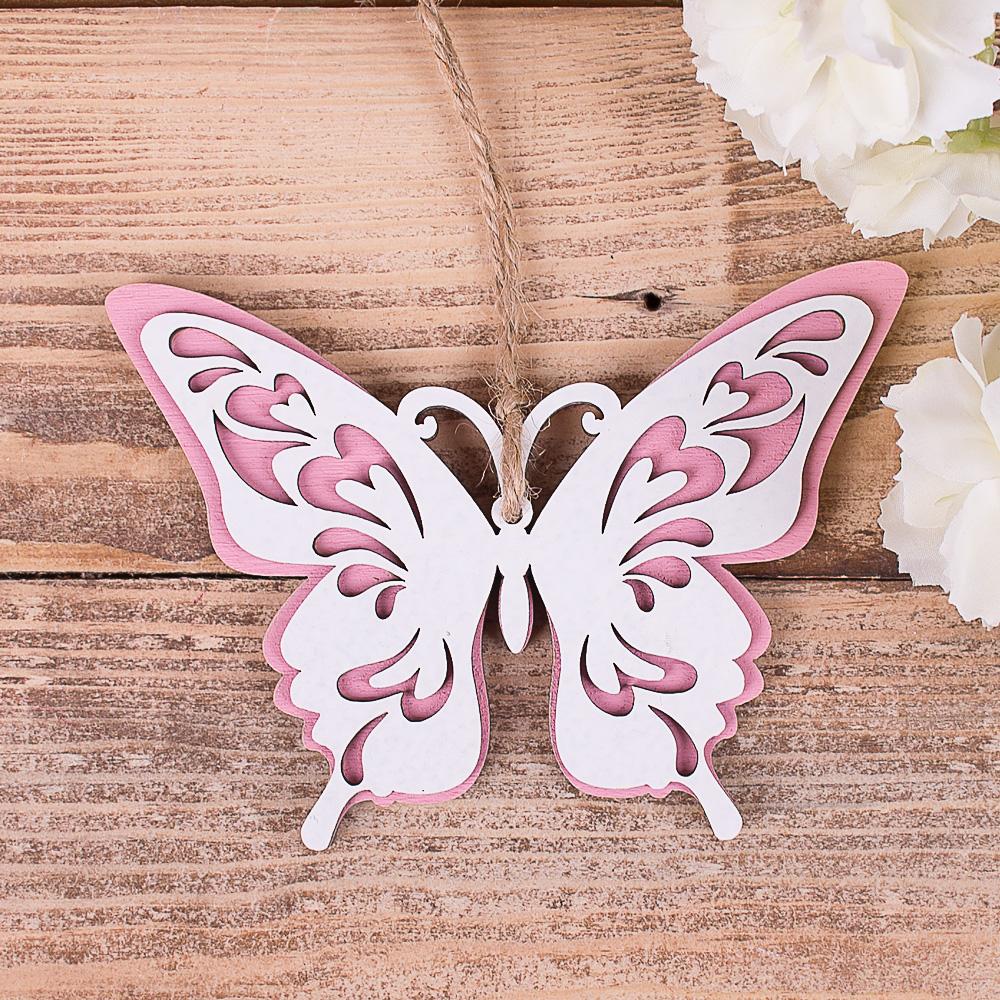 бабочка подвесная розовая