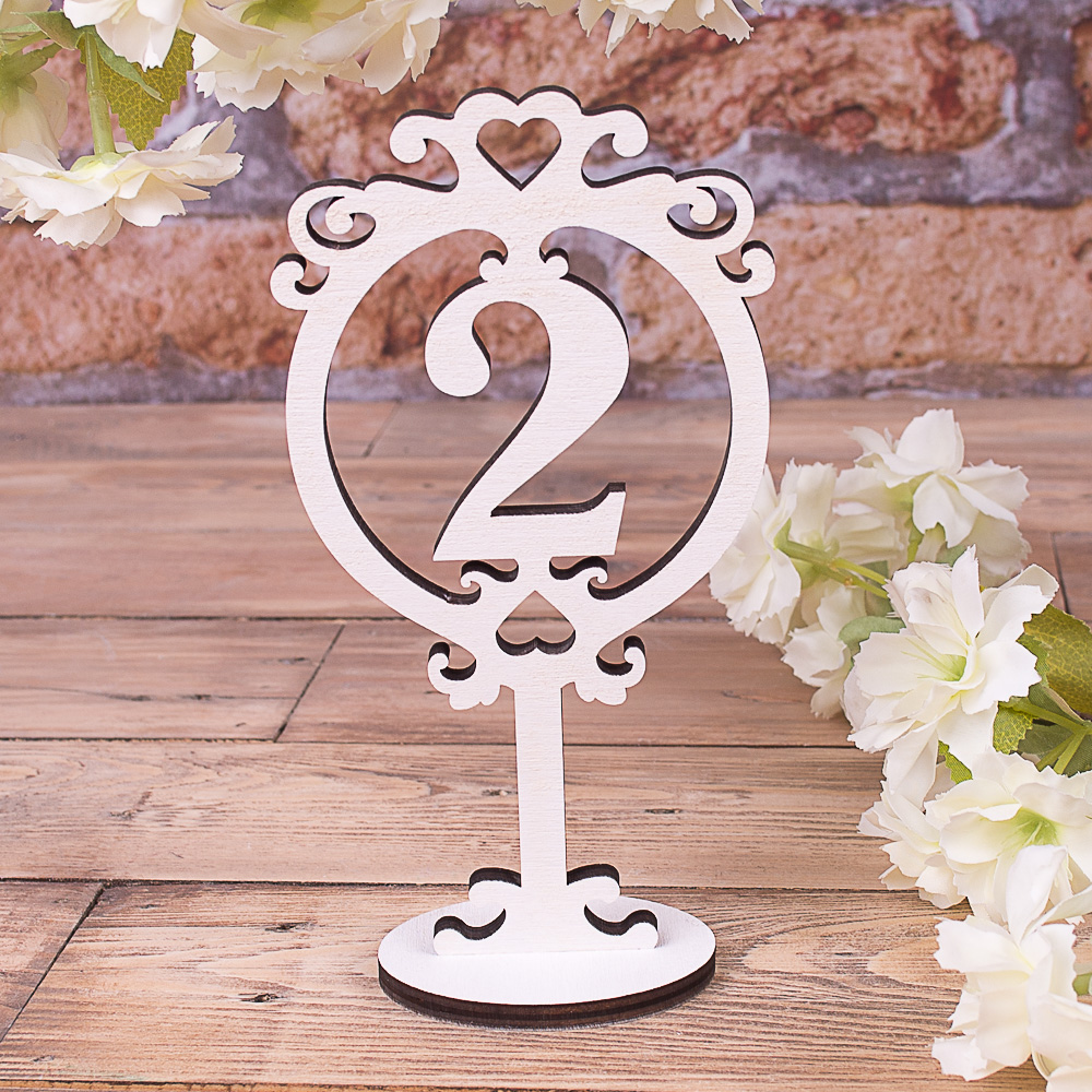 "номер на стіл ""цифра 2"""