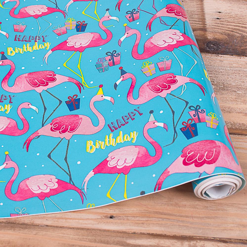"""бумага  """"фламинго"""" 70см * 10м."""