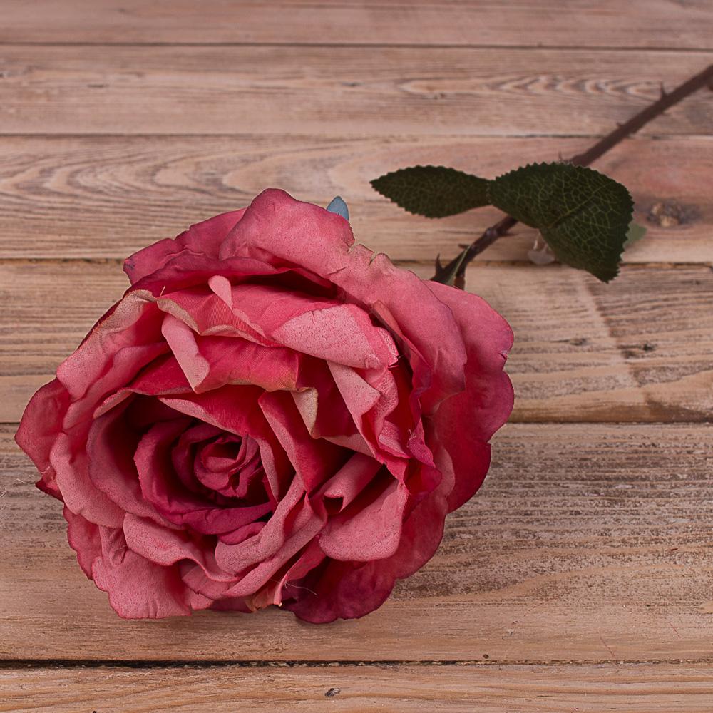 """Роза премиум """"мятая"""" темный фиолет"""