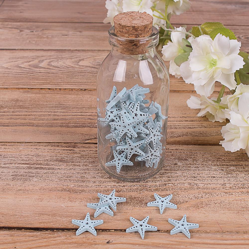 морський декор в пляшці - зірка