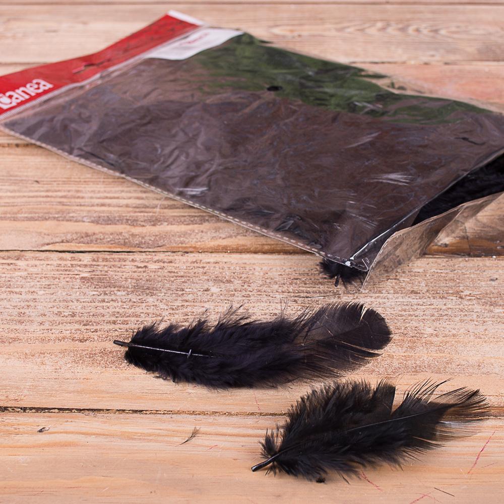 Перья натуральные - №4-черные