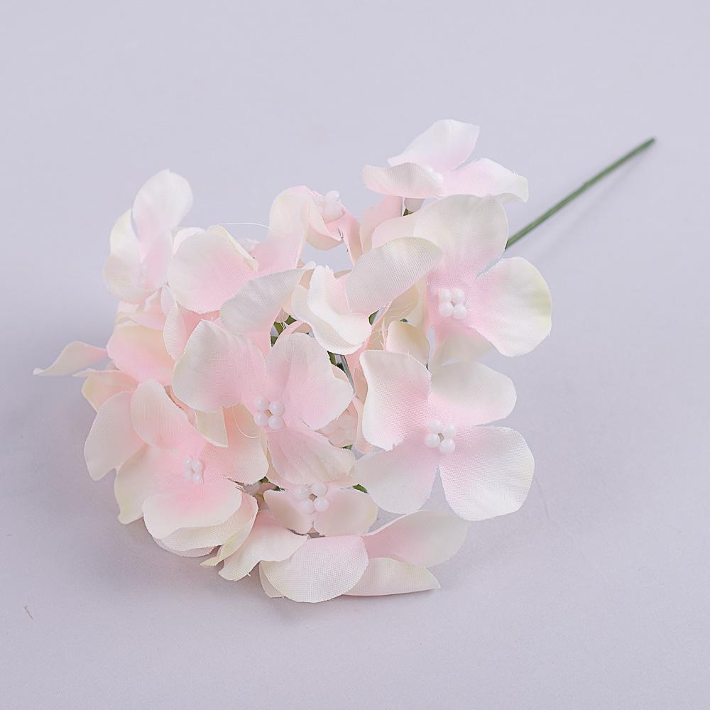 головка гортензии мини на палочке розовая