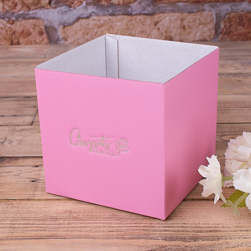 кашпо картонне (рожеве)