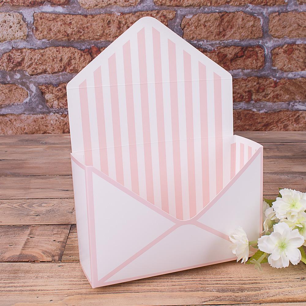 """кашпо картонне """"поштовий конверт"""" пудра"""
