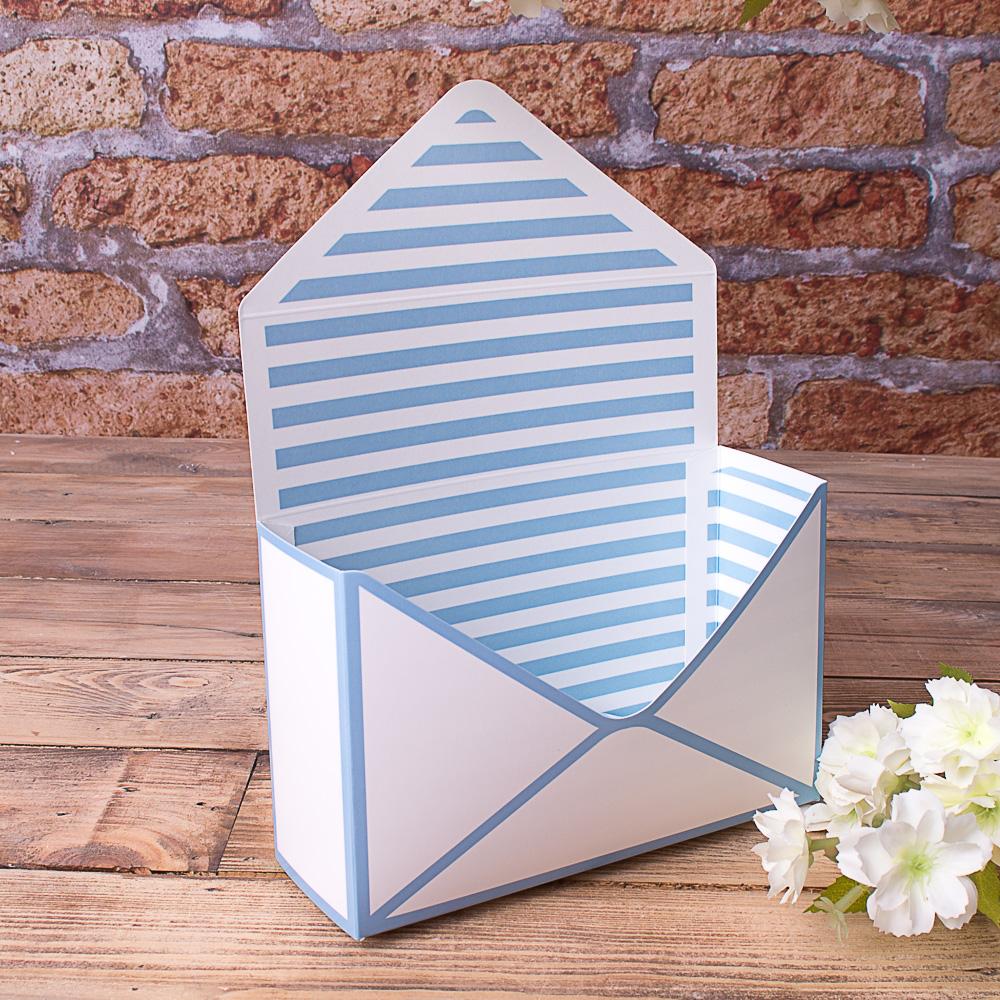"кашпо картонне ""поштовий конверт"" блакитне"