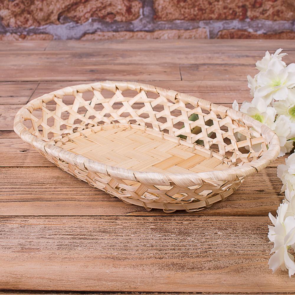 Піднос з бамбука овальний