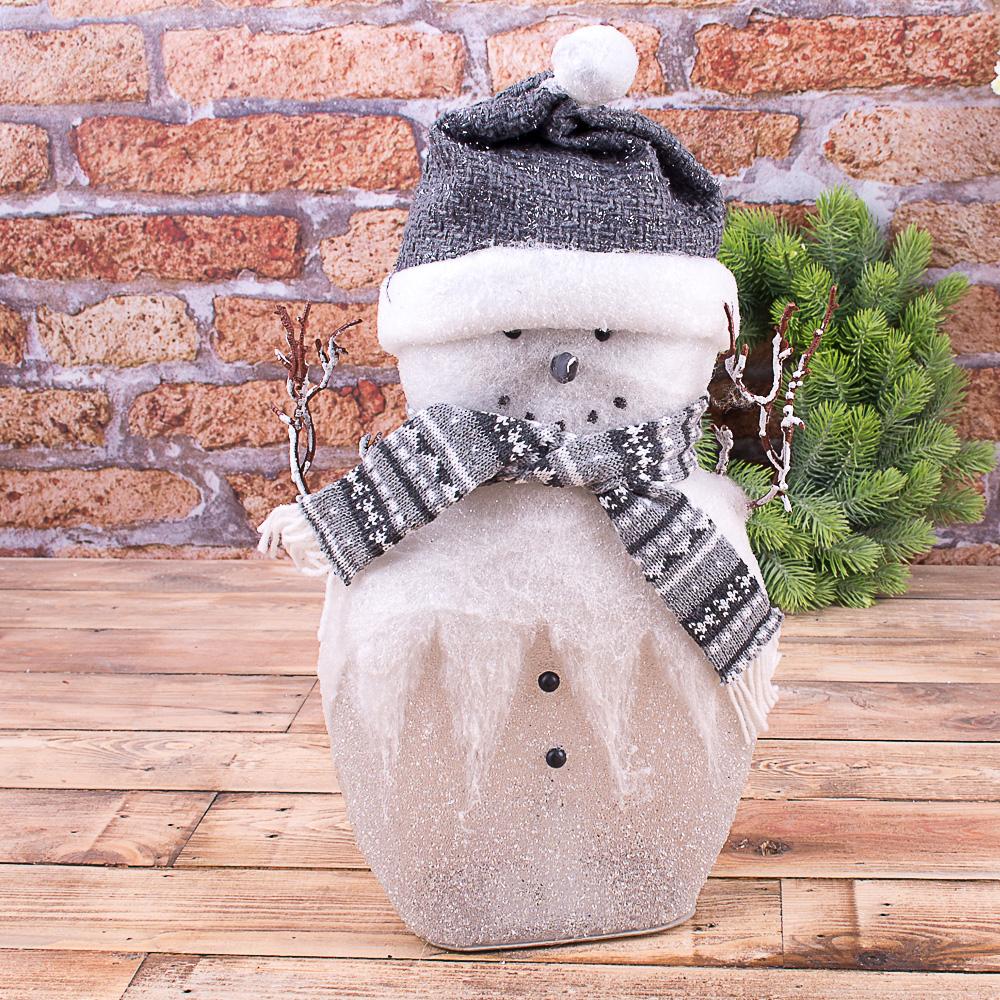 "Статуэтка с led подсветкой ""снеговик средний 45см"" в кристалах"