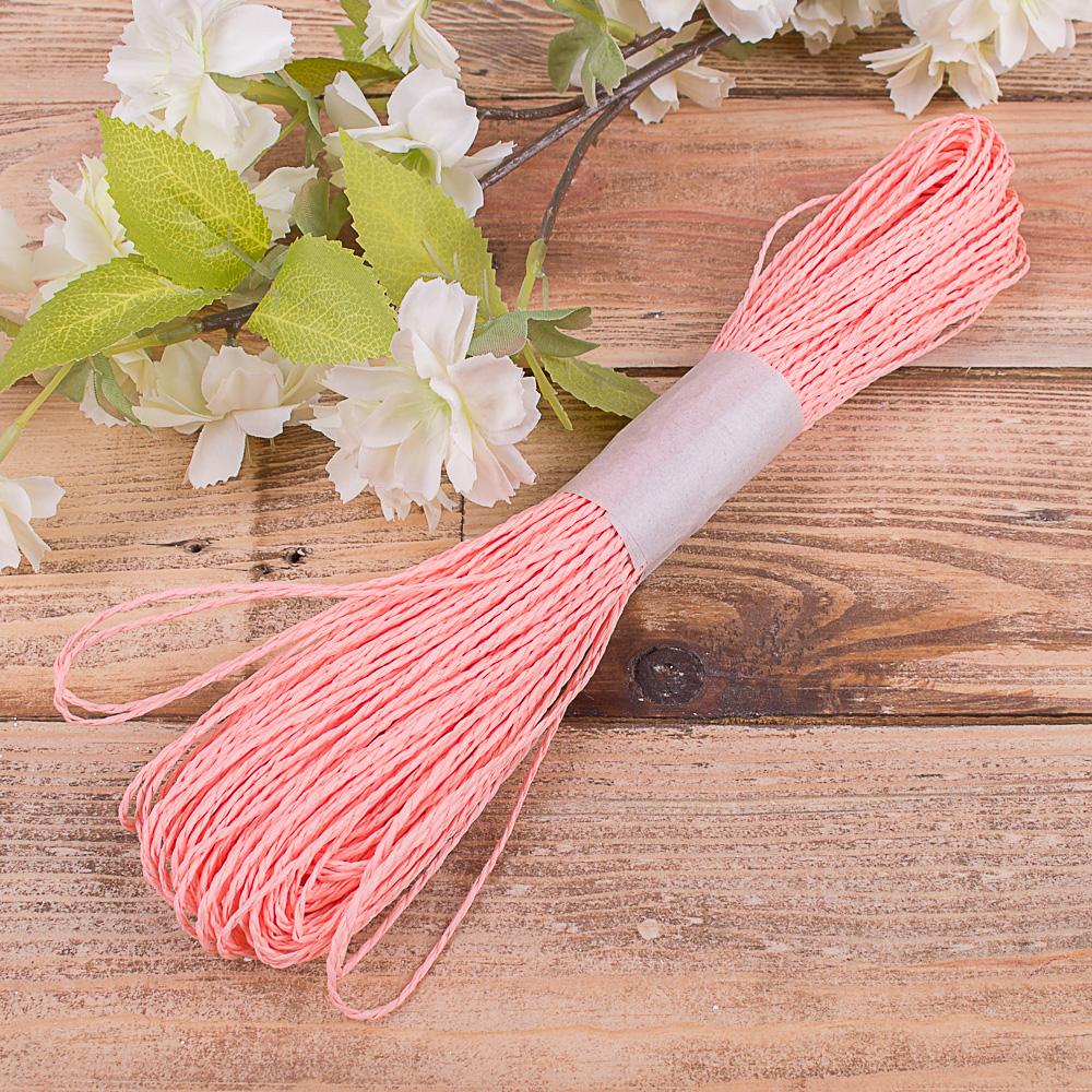 шнурок для декора лососевый