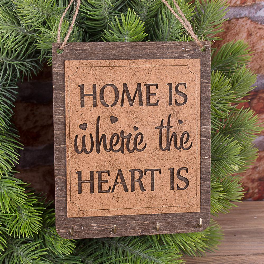 """подвесная мини ключница """"home is where the heart is"""""""