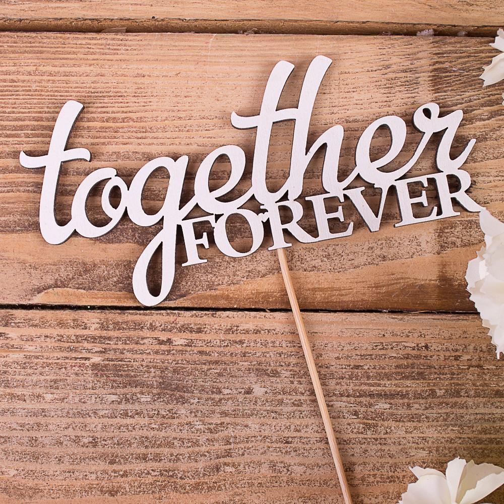 """топпер ,білий """"together forever"""""""